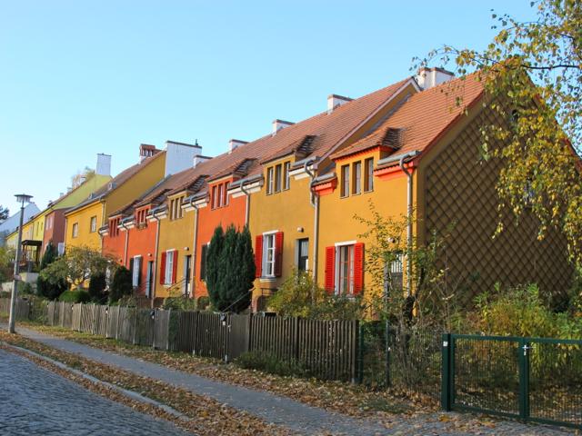 Tuschkastensiedlung Reihenhäuser Gartenstadtweg Oktober 2012