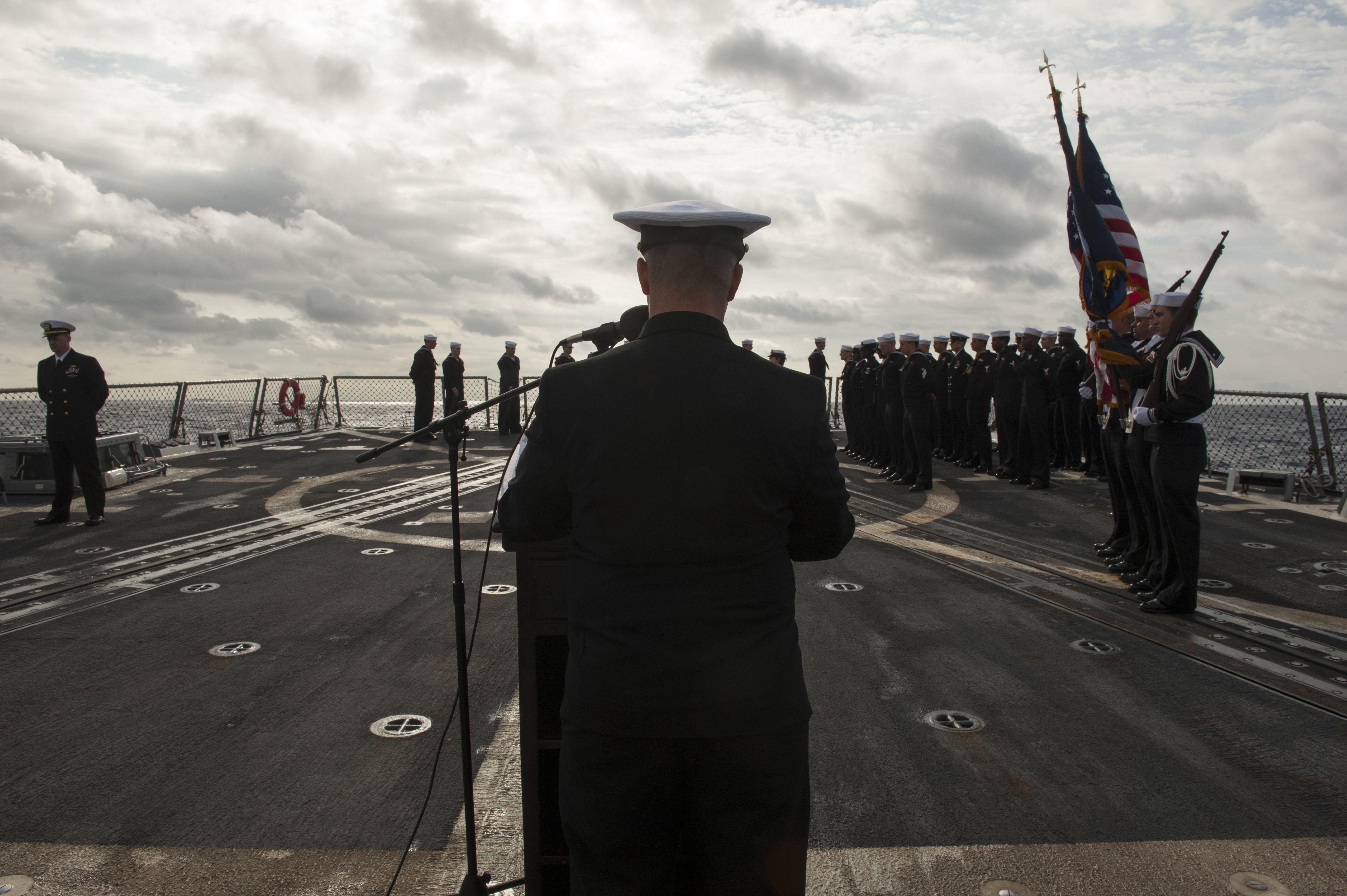 navy burial at sea instruction