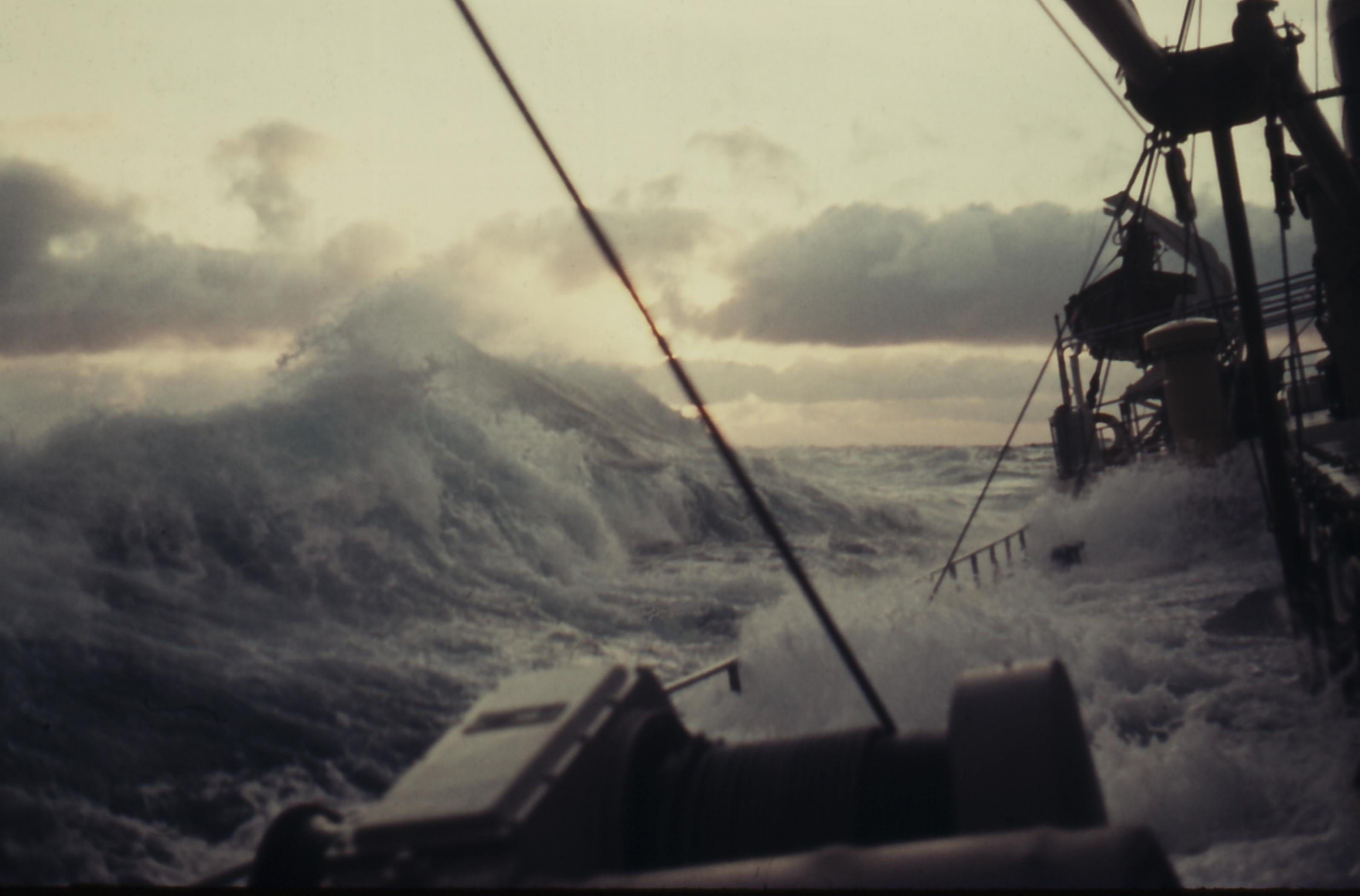 ship in rough waters