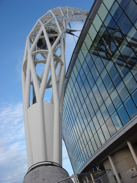 File Wembley Stadium Arch Western Pier Geograph Org Uk