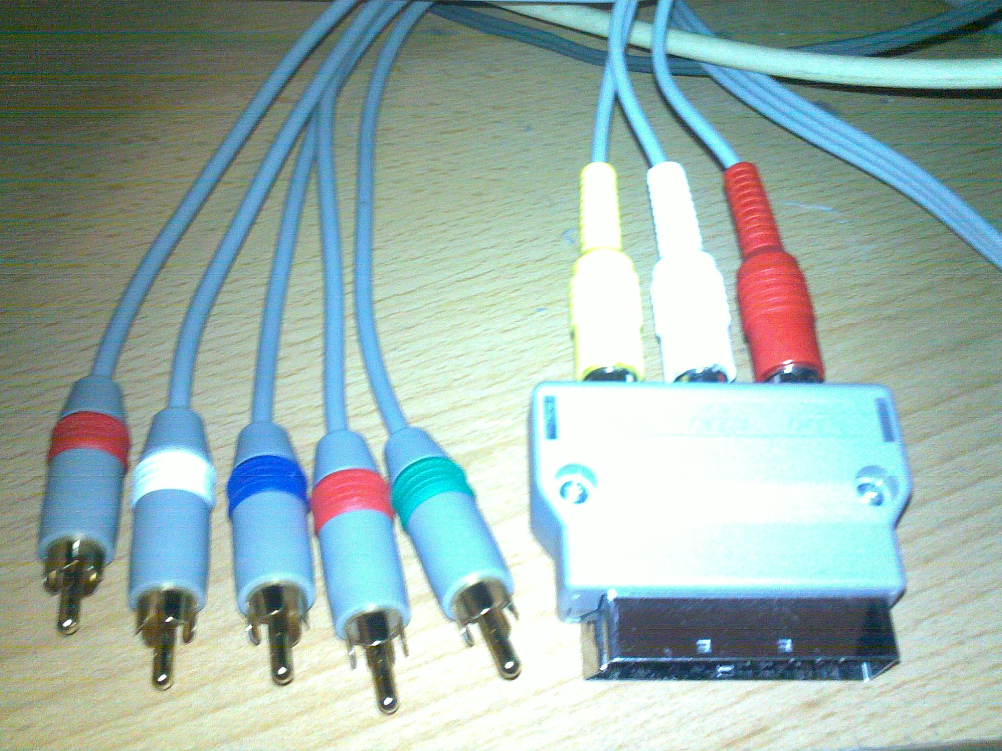 File:Wii classic a HDTV component kabel.jpg - Wikimedia Commons
