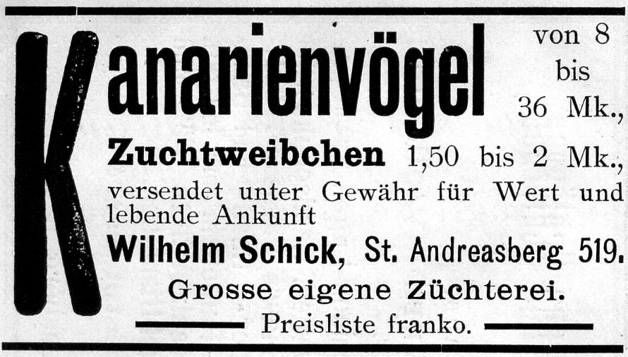Der Harzer Roller oder  Umweltfreundlicher Brand & Gasmelder Wilhelm_Schick%2C_Kanarienz%C3%BCchterei