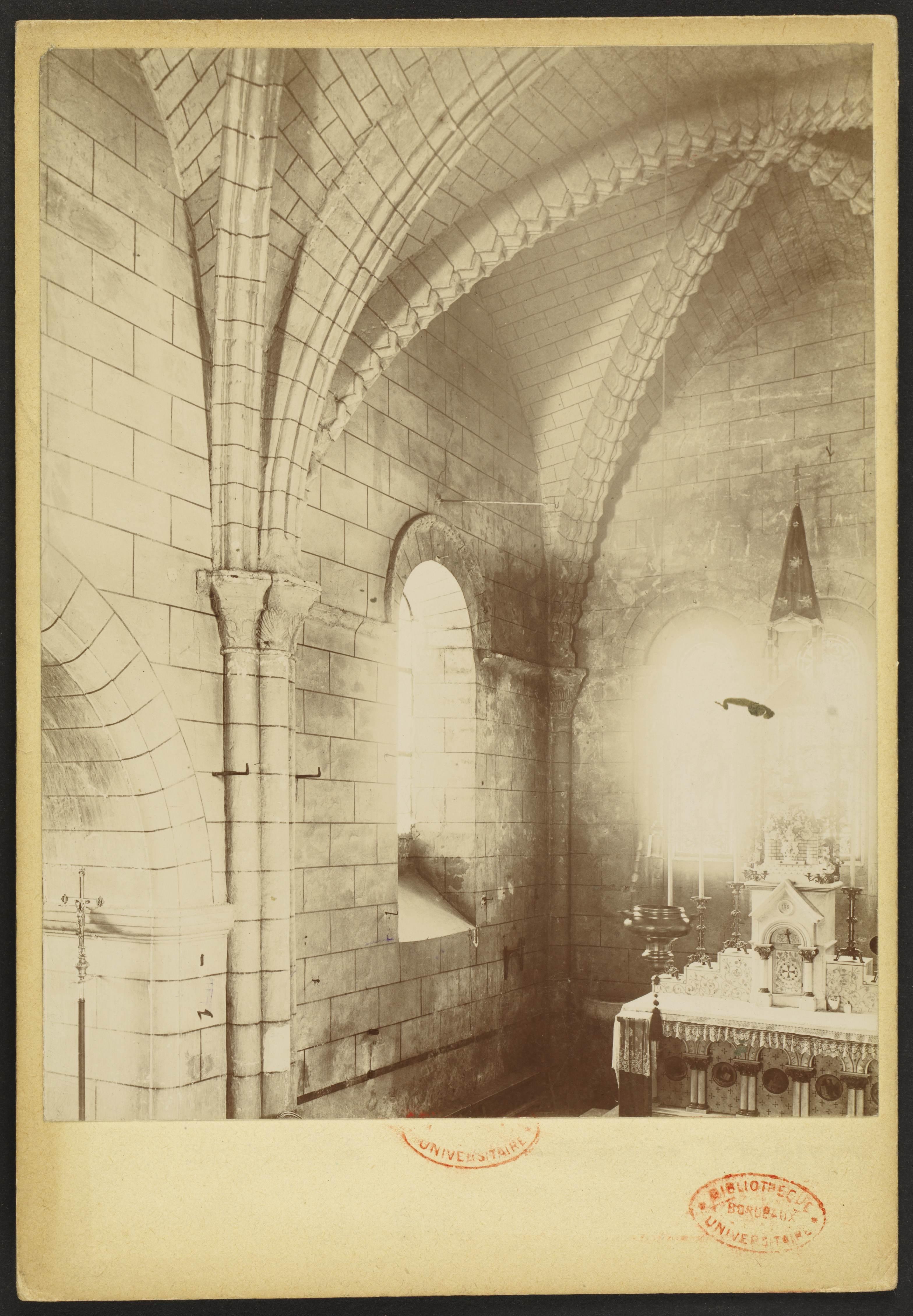 Carte Universite De Bordeaux.File Eglise Saint Romain De Cartelegue J A Brutails Universite