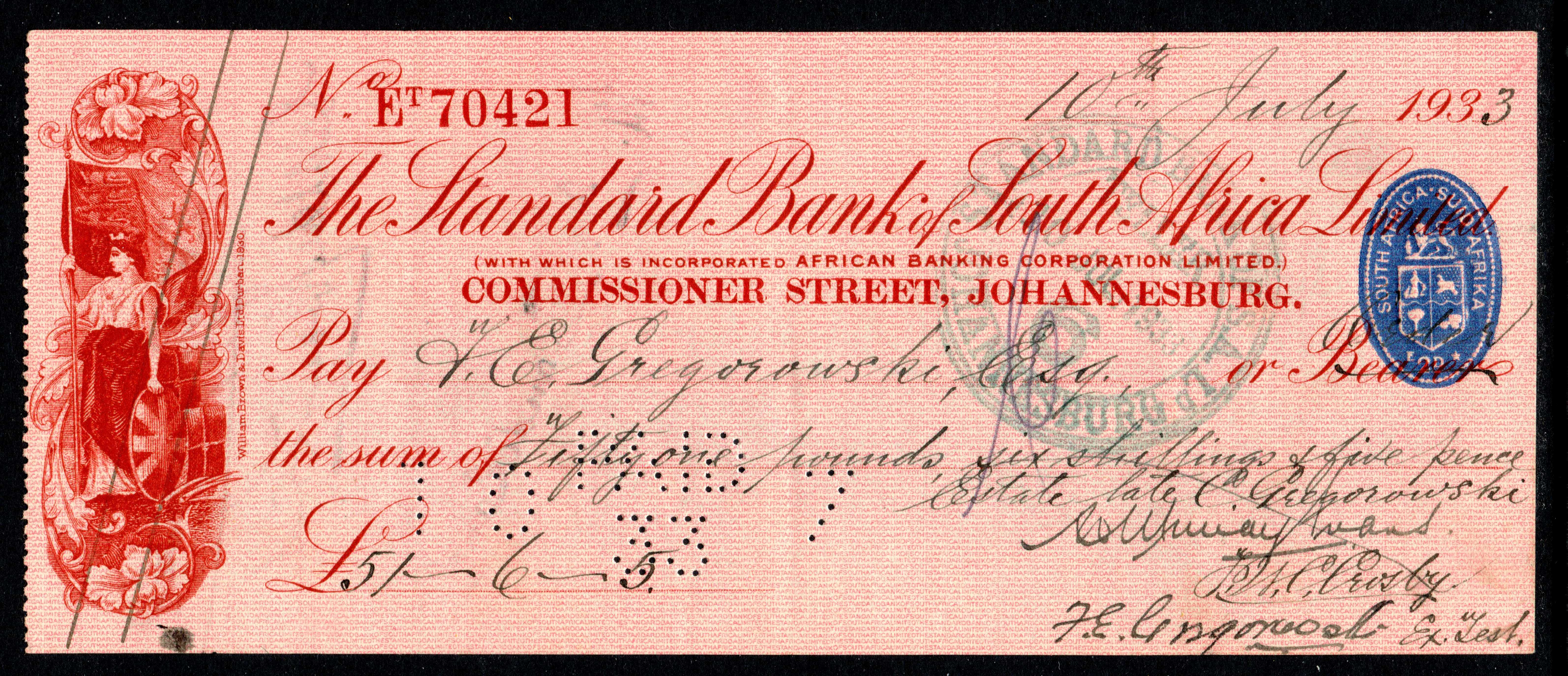 View cheque & deposit images