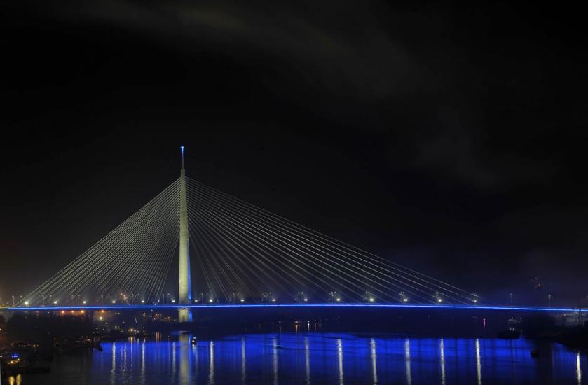 Beograd u slici Ada_vatromet_1