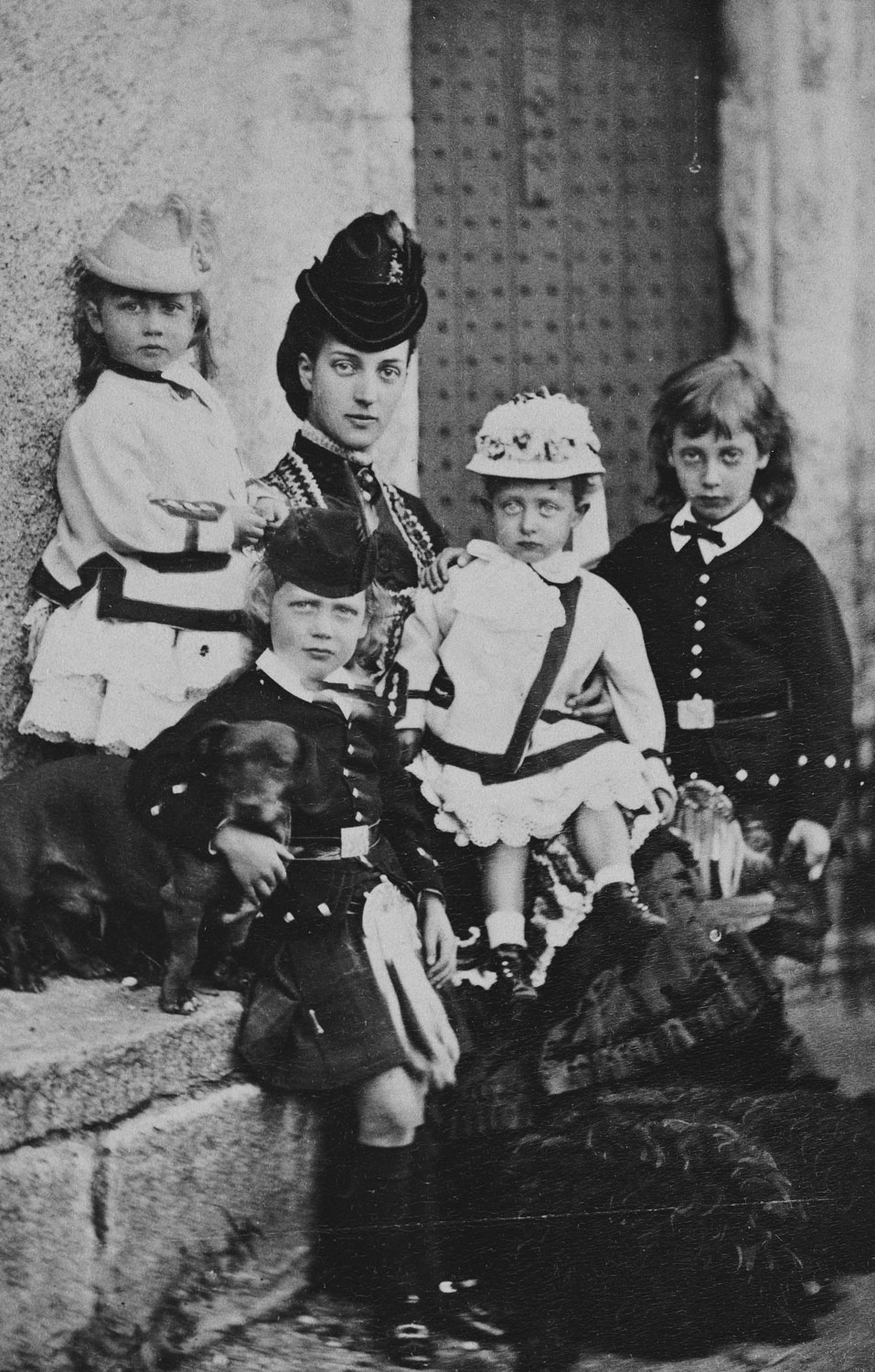Alexandra, Princess of Wales, with her children