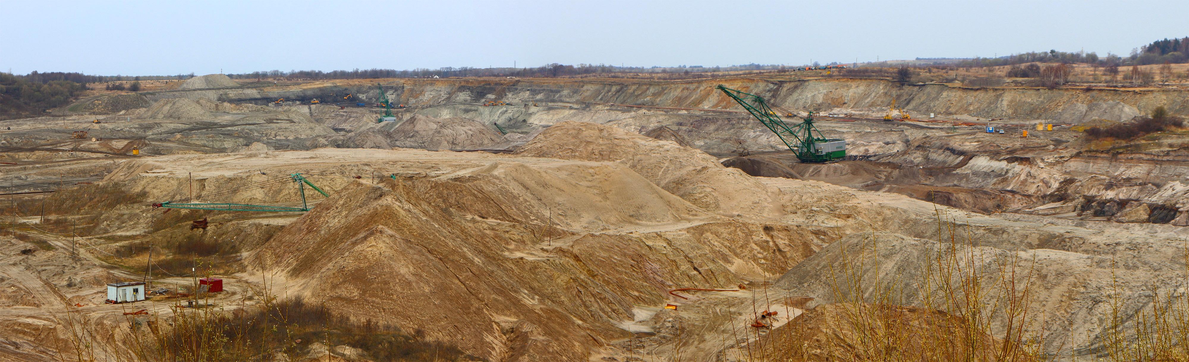 """Amber mine """"Primorskoje"""" in Jantarny, Kaliningrad Oblast,Russia"""