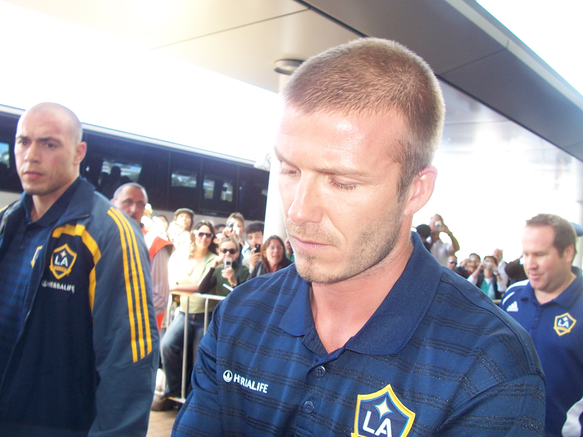 Beckham outside Wellington Airport.JPG