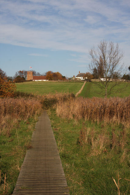 File:Boardwalk footpath to Levington Church - geograph.org.uk ...