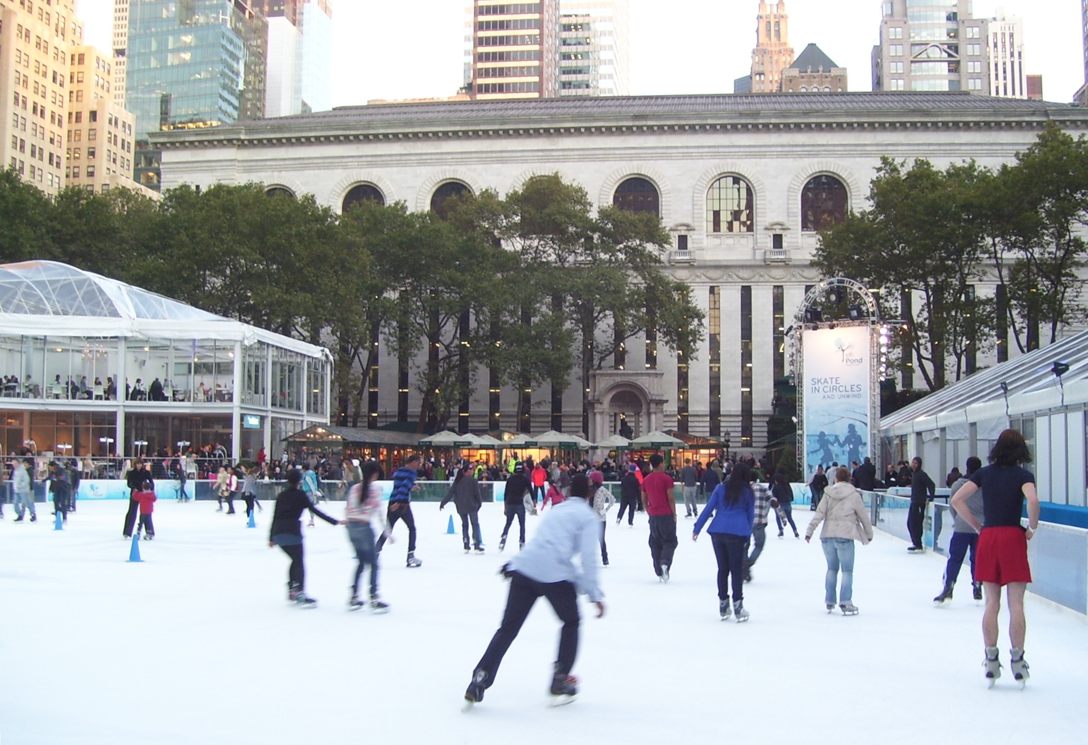file bryant park city pond skating rink 1 jpg wikimedia commons
