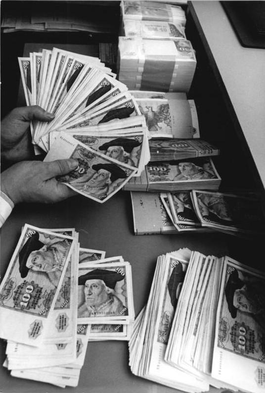 Währungsumstellung in Deutsche Mark, Leipzig 1990