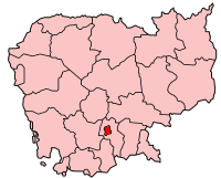 Location of Phnom Penh Province, Cambodia