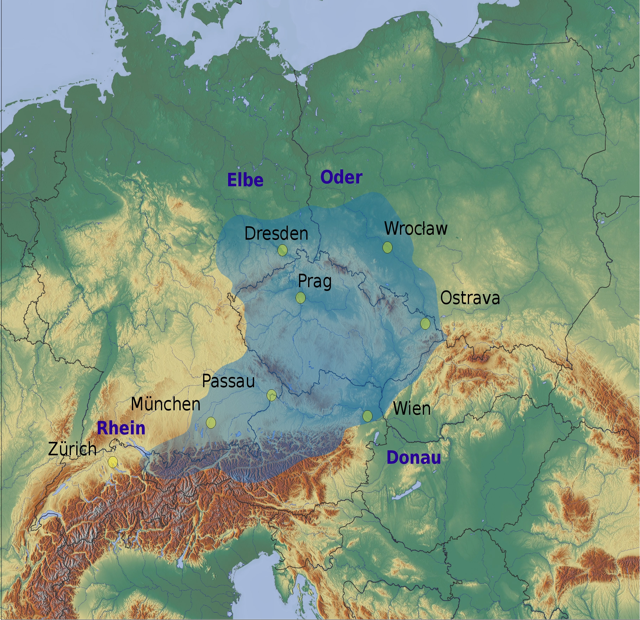 map of central europe 2013 File:Central Europe relief map with 2013 rain.   Wikimedia Commons
