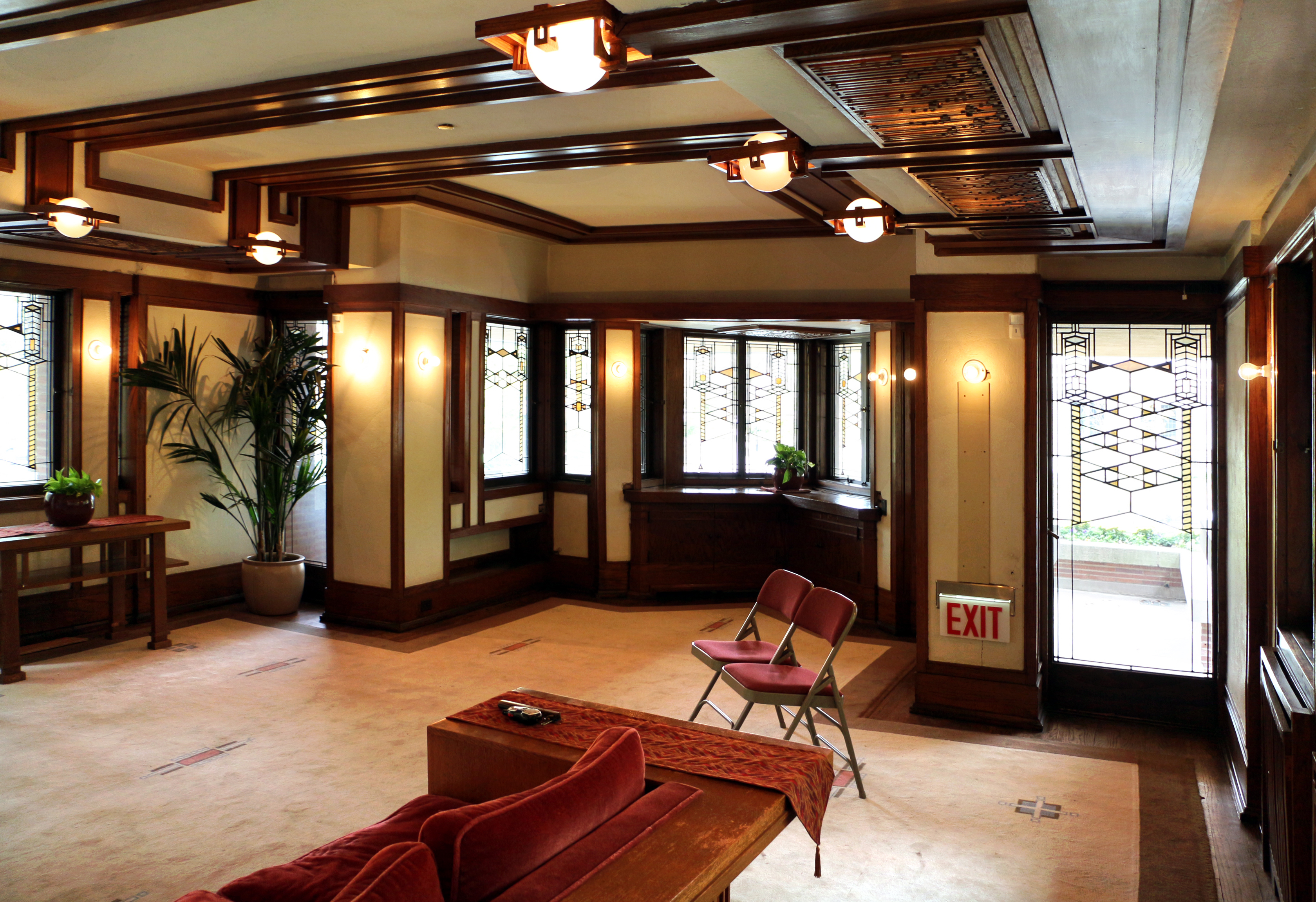 Dinning Room Robie House In Chicago By Frank Lloyd Wright