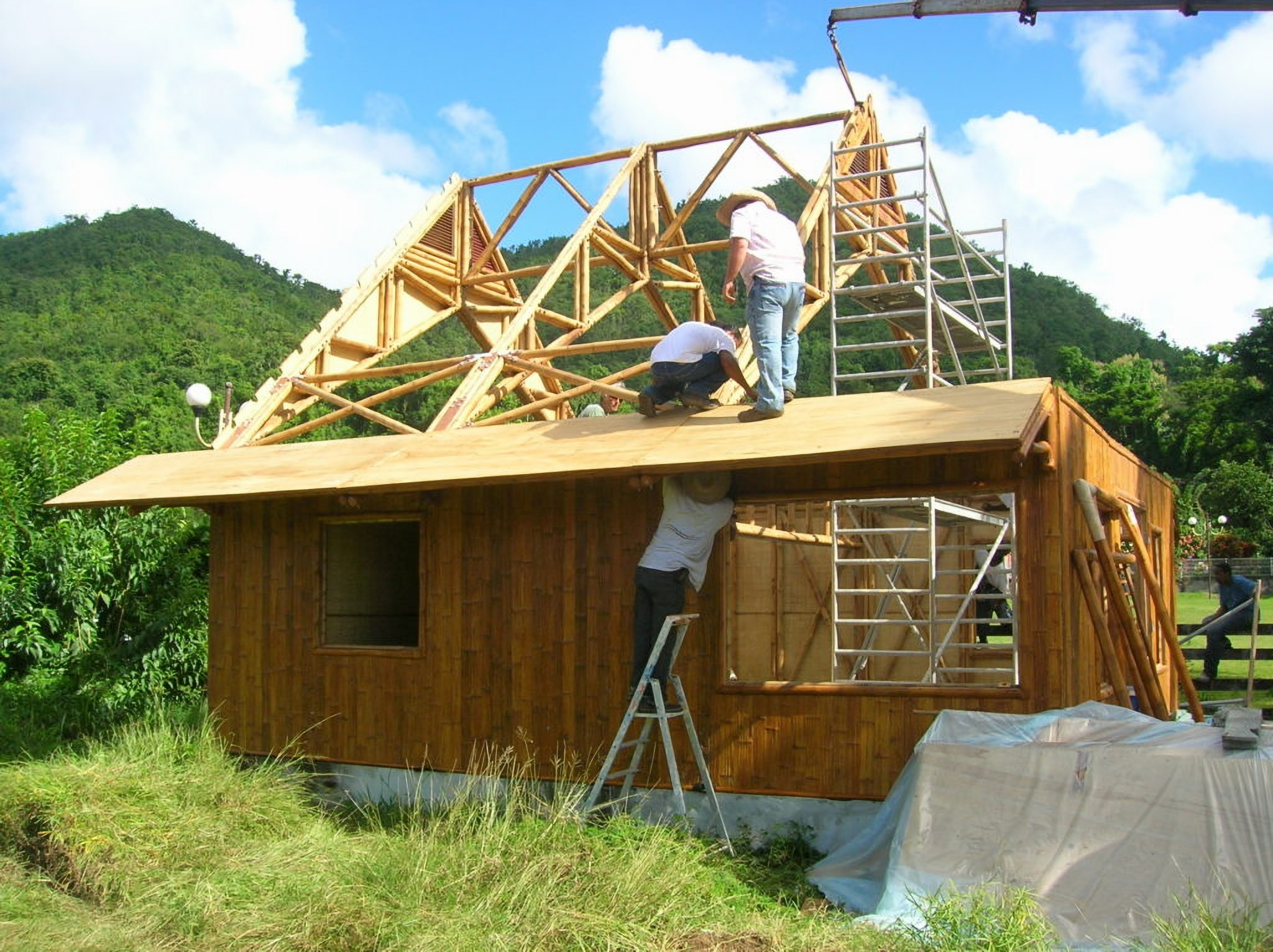 House made entirely of bamboo