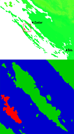 Croatia North Dalmatia Iz area Rava.png