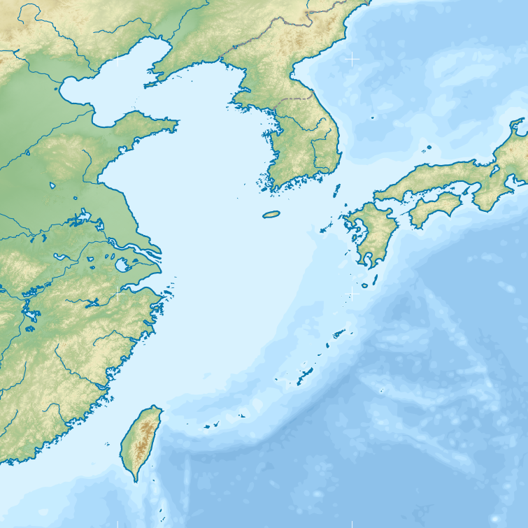 File:East China Sea map with topography border.png - Wikimedia Commons