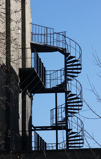 File:Exterior Spiral Staircase, Brookside   Geograph.org.uk   1193880.