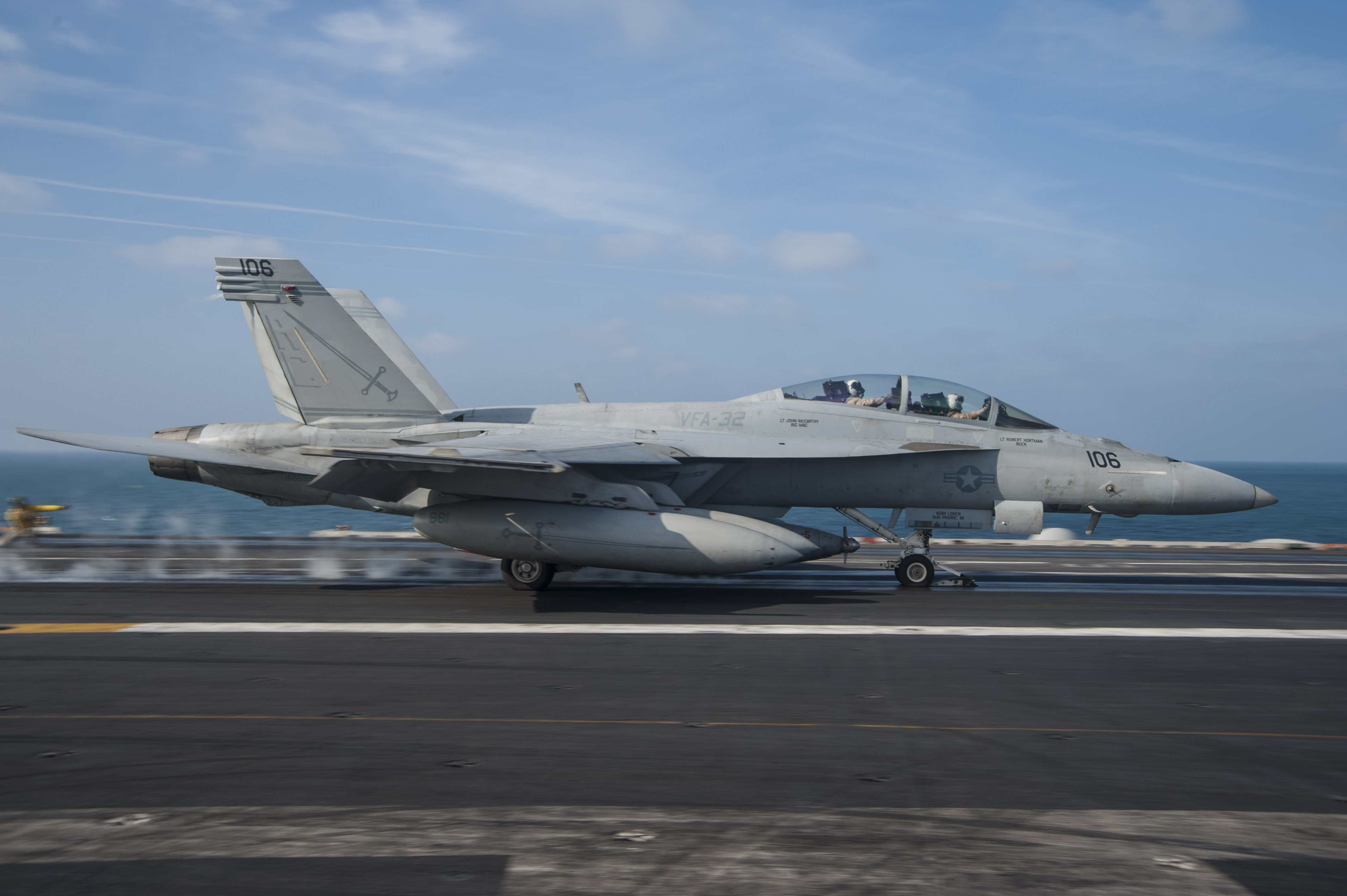 File:F-18F of VFA-32 is launched from USS ...
