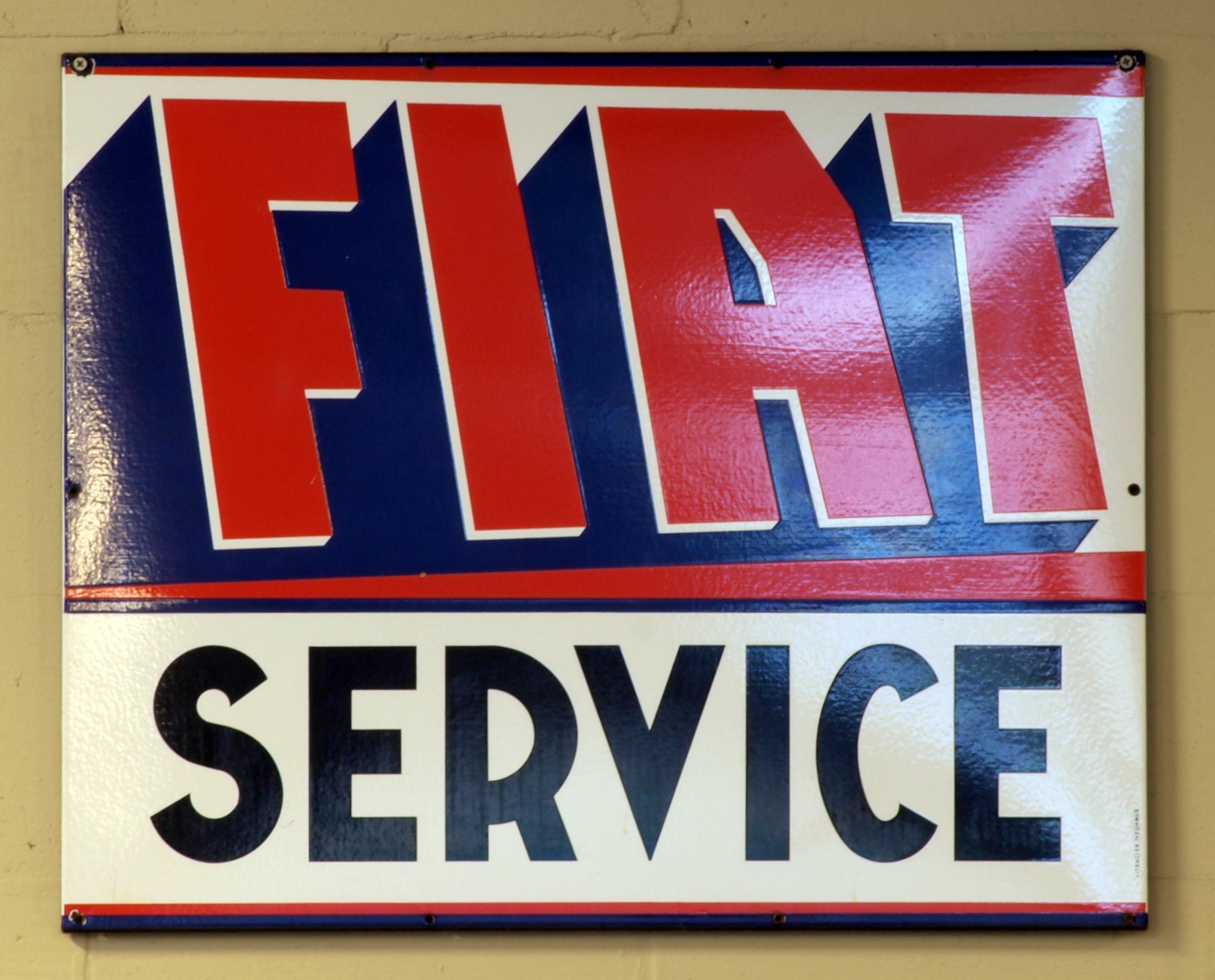 FileFIAT Service Enamel Advert Sign At The Den Hartog Ford - Fiat service