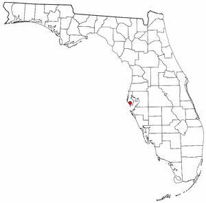 Location of Bay Pines, Florida