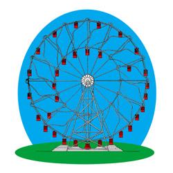 Hermann Eccentric Ferris Wheel with sliding ca...