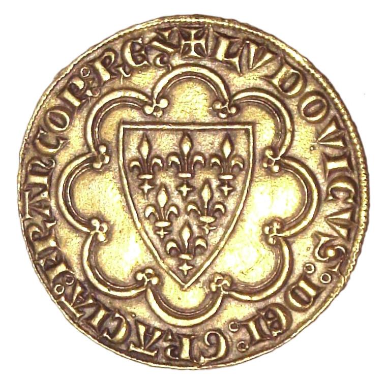 Écu - Or - Monnaie - Louis IX - France - Numismatique - Pièce - SchoolMouv - Histoire - CM1