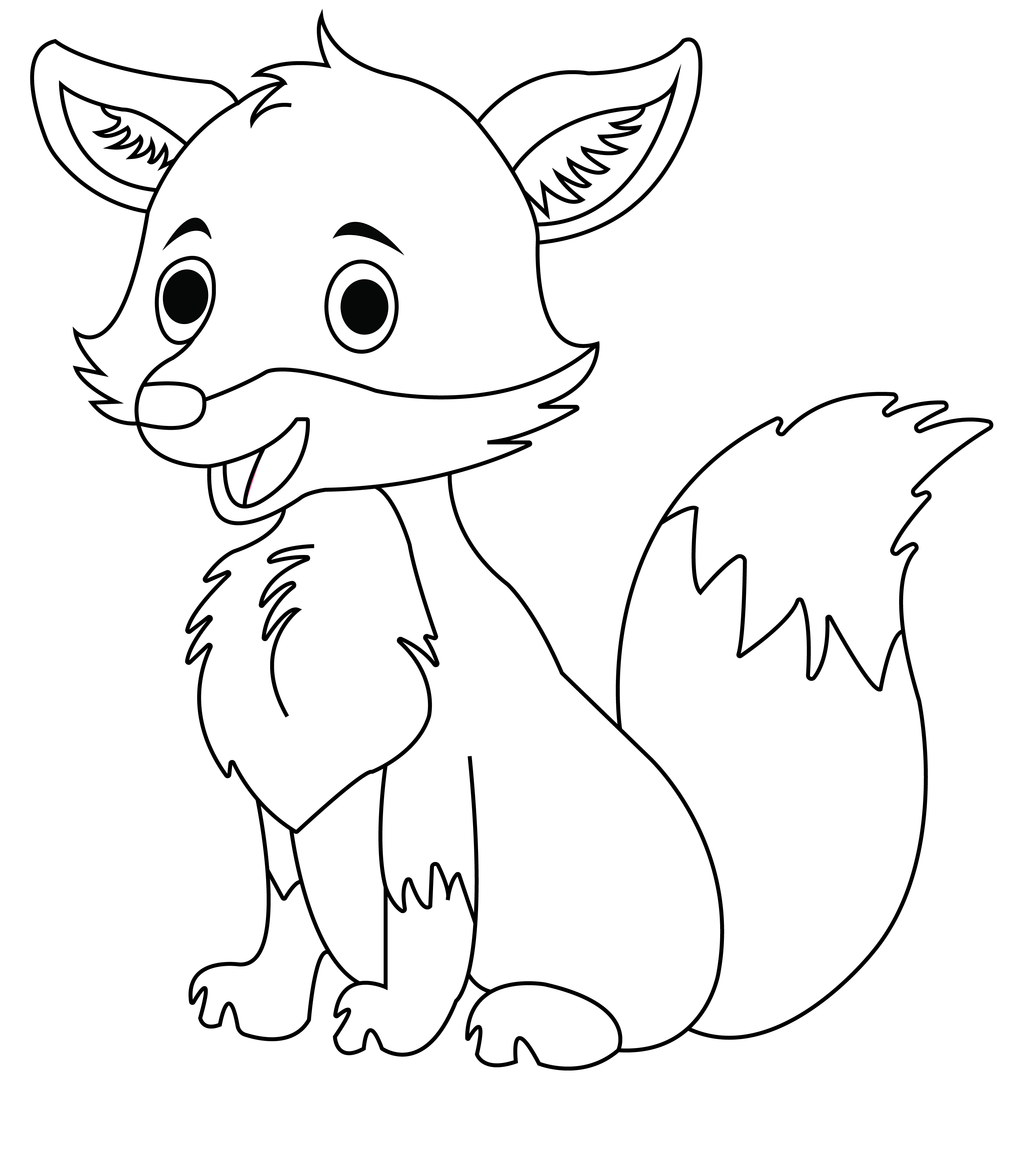 File Fox Coloring Page Jpg Wikimedia Commons