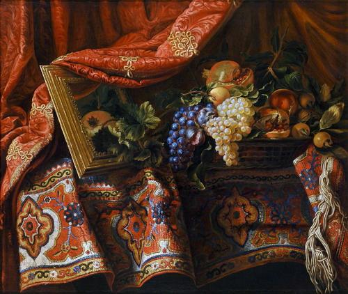 File:Francesco Noletti detto il Maltese, Cesto di frutta su tappeto, olio su tela, 91 x 110 cm..jpg