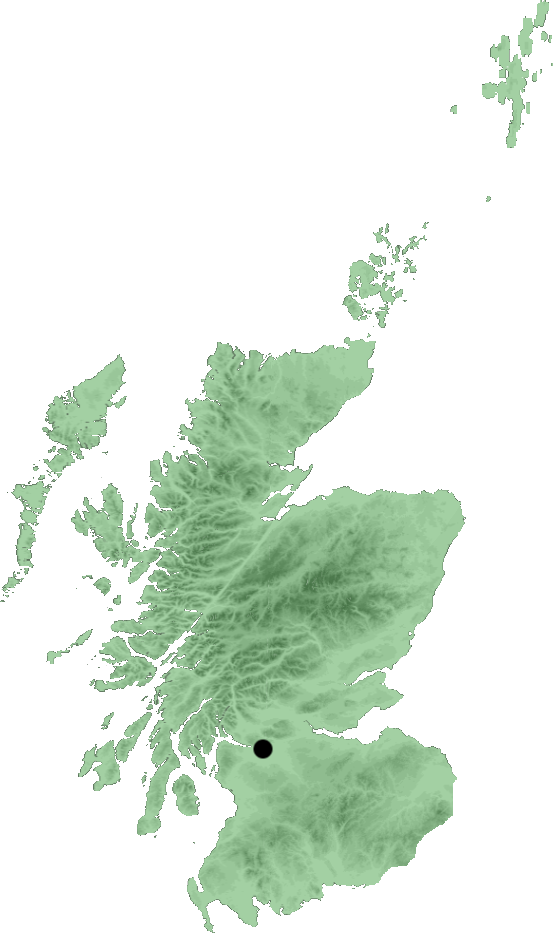 Glasgow locator map