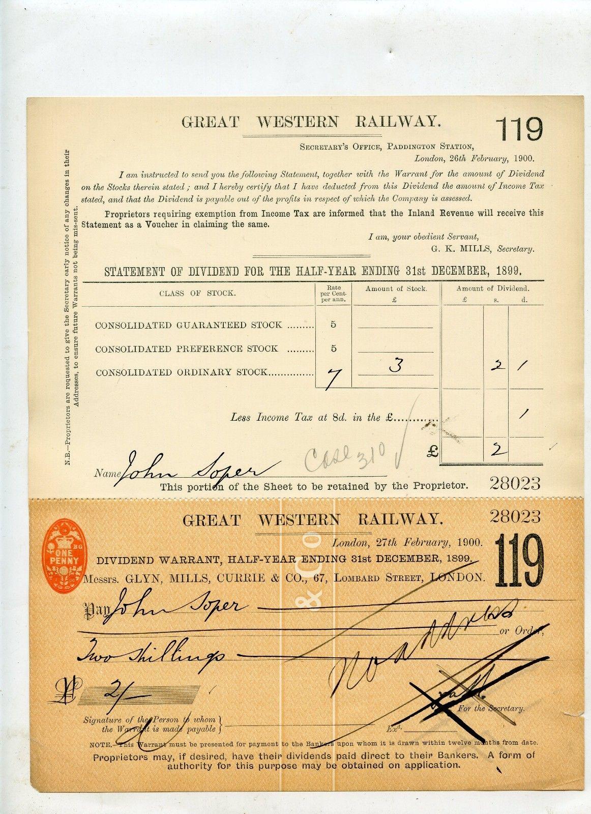 Filegreat western railway dividend share certificate december filegreat western railway dividend share certificate december 1899g 1betcityfo Gallery