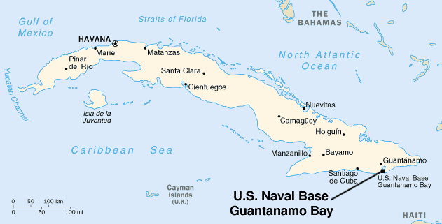 Us Naval Base Guantanamo Bay Cuba Map Timeline of Guantánamo Bay   Wikipedia