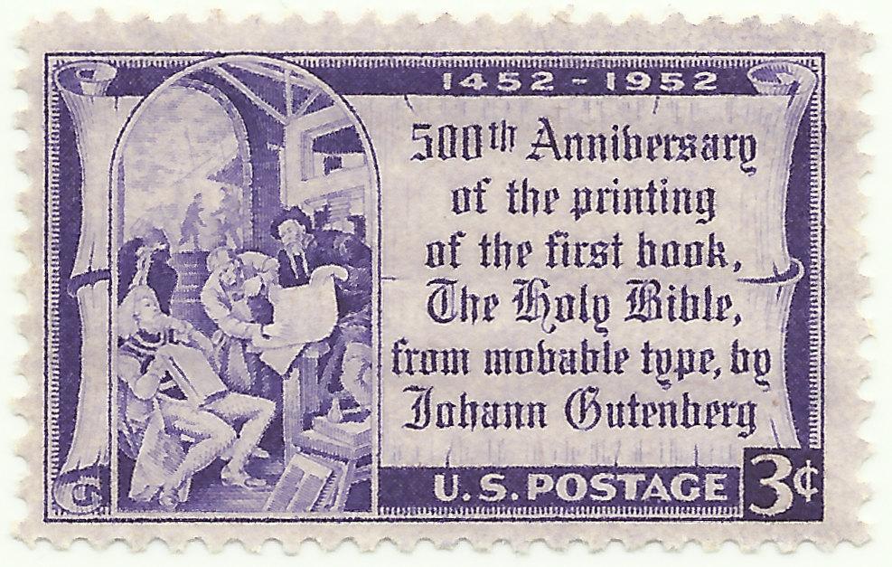 500th anniversary stamp, 1952