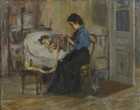 H. Artsatpanyan, Sick child, 1900