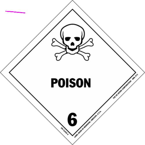 HAZMAT Class 6-1 Poison
