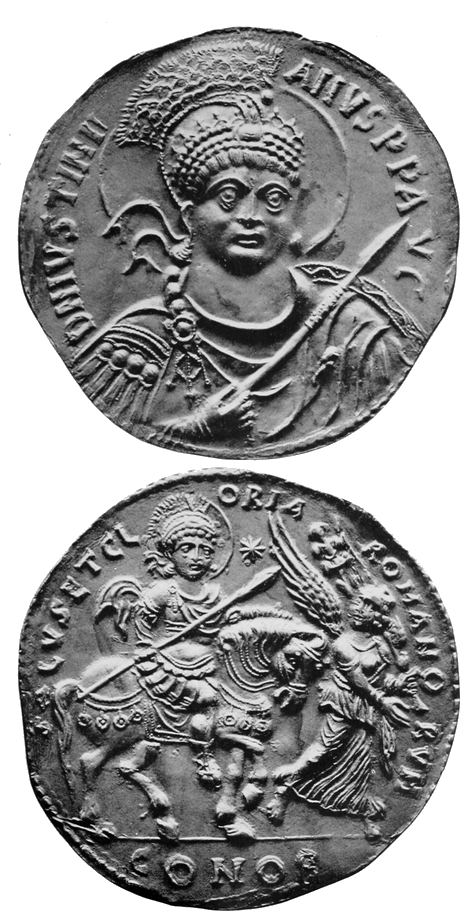 HDFRE V4 D255 Gold medallion of Justinian I.png