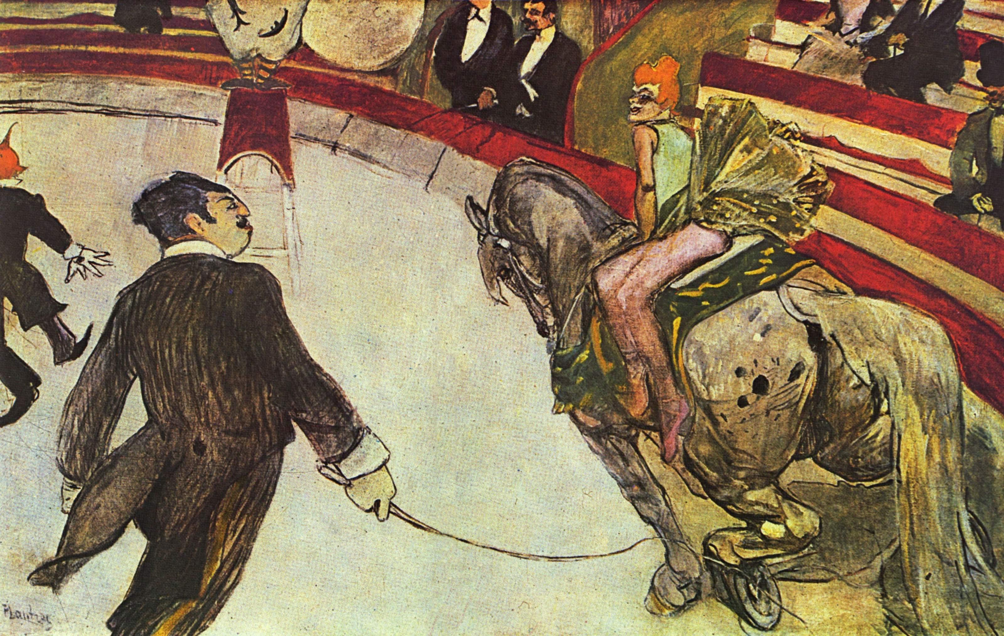 Risultati immagini per Henri de Toulouse-Lautrec AI Circo Fernado