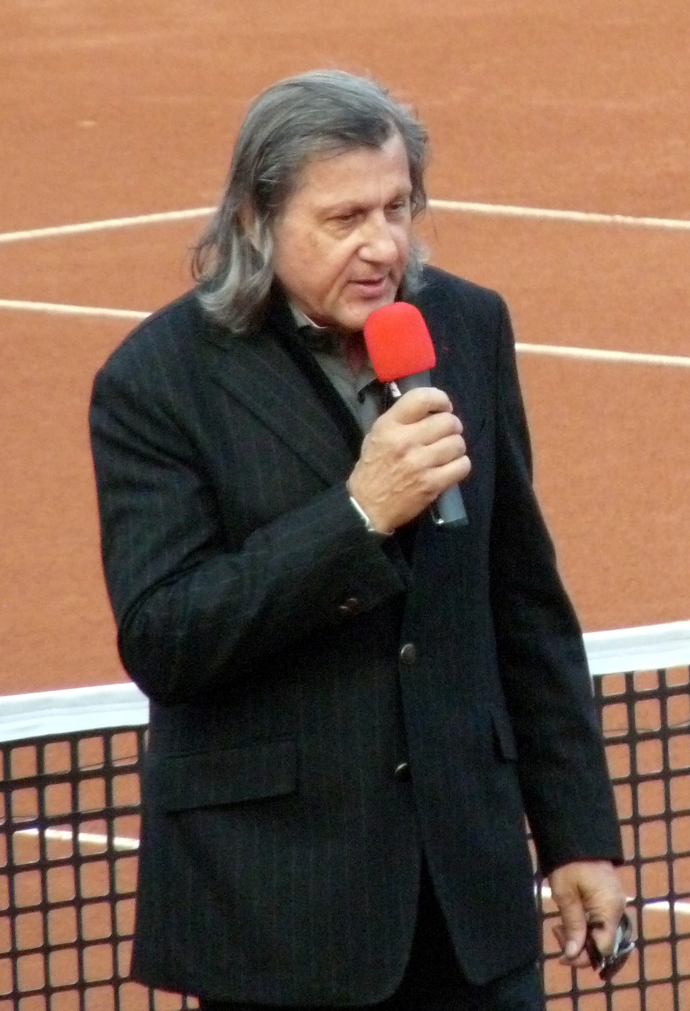 The 72-year old son of father (?) and mother(?) Ilie Nastase in 2018 photo. Ilie Nastase earned a  million dollar salary - leaving the net worth at 15 million in 2018