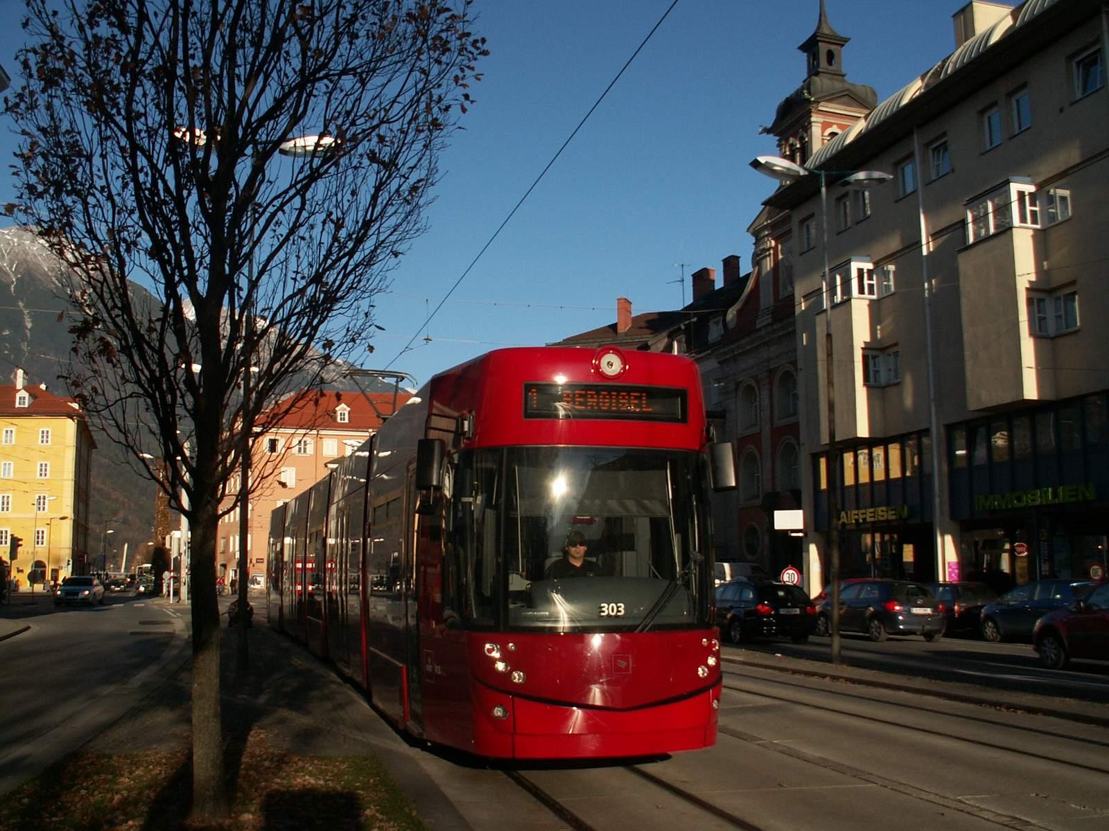 A tram in Innsbruck (Austria)