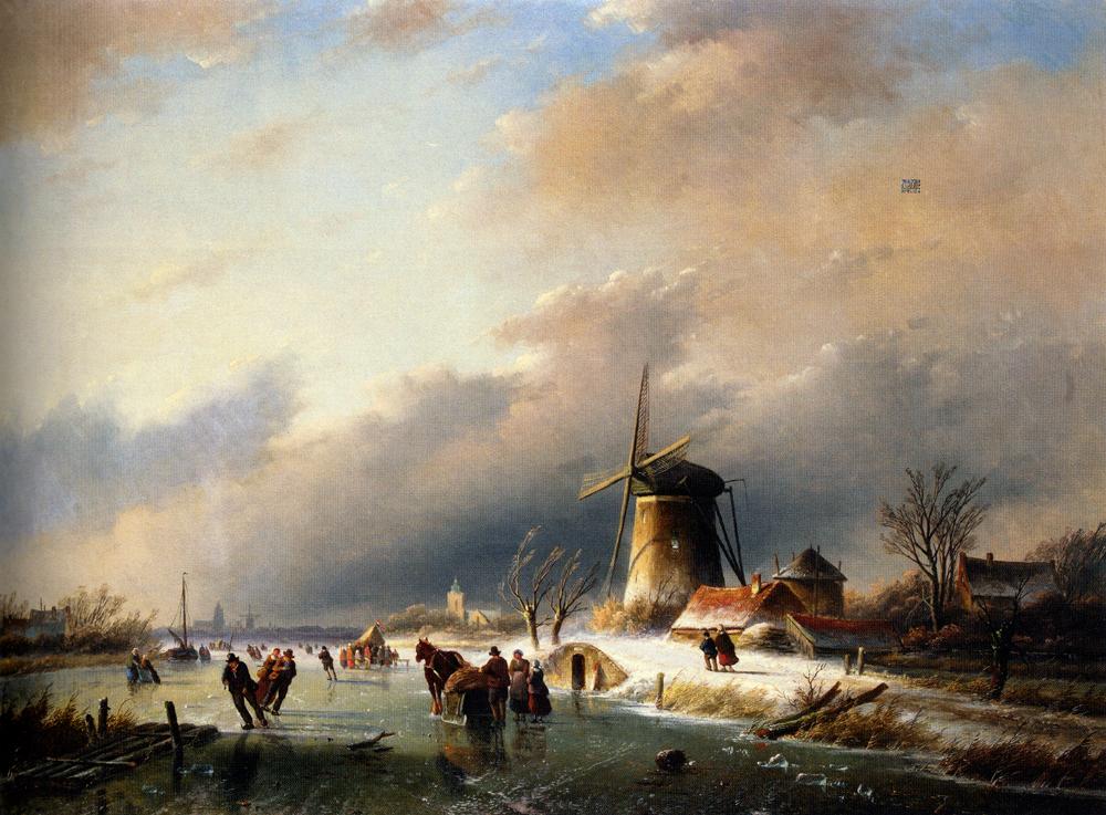 Jan Jacob Coenraad Spohler – Wikipedia, wolna encyklopedia Dutch Windmill Painting