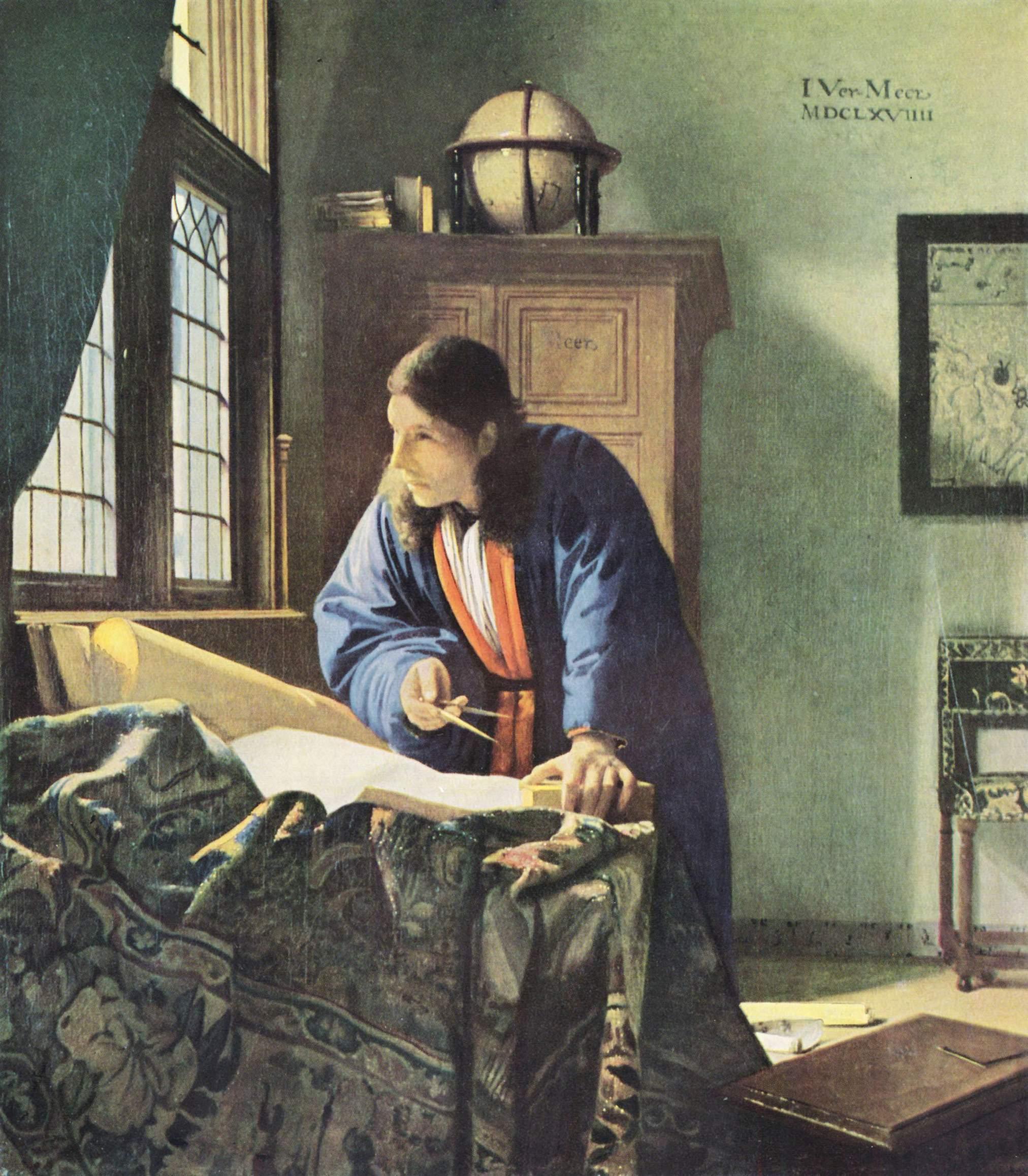 Le Géographe par J. Vermeer