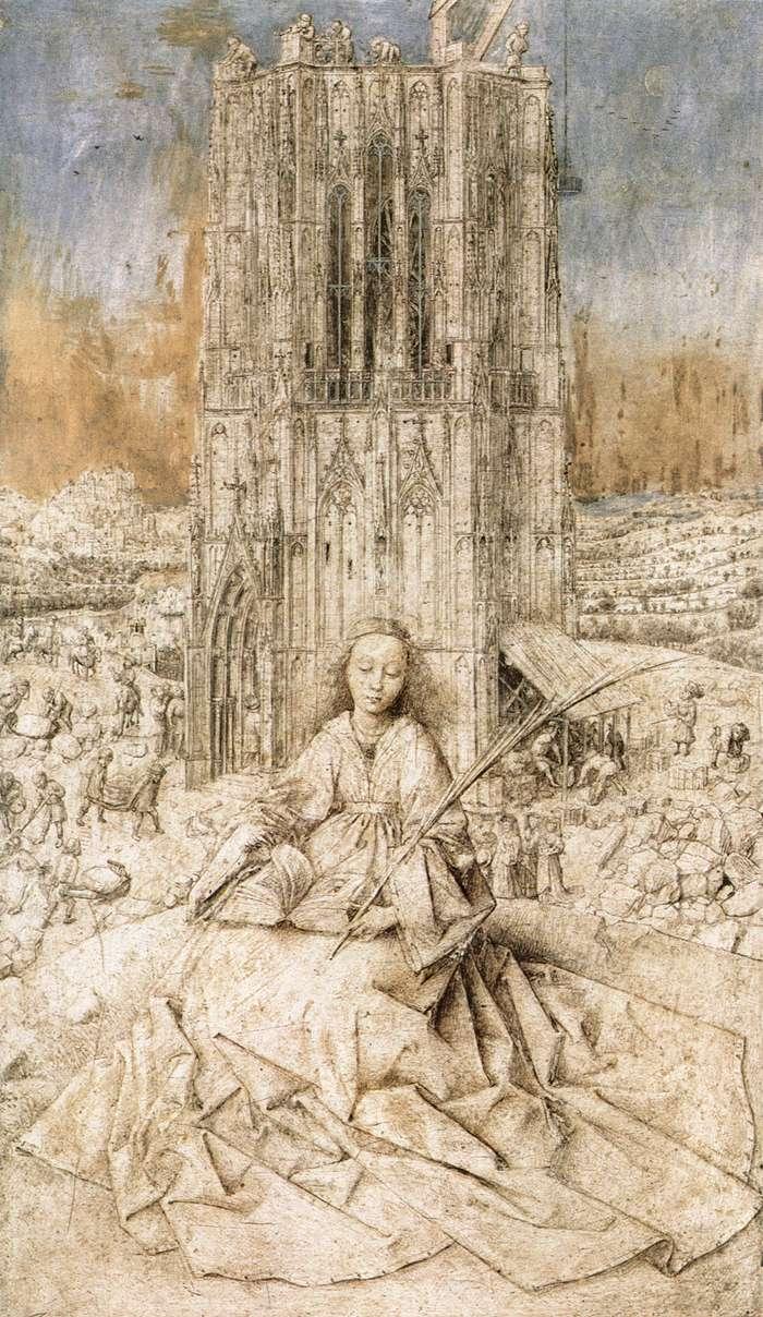 Van Eyck Drawings Saint Barbara Van Eyck