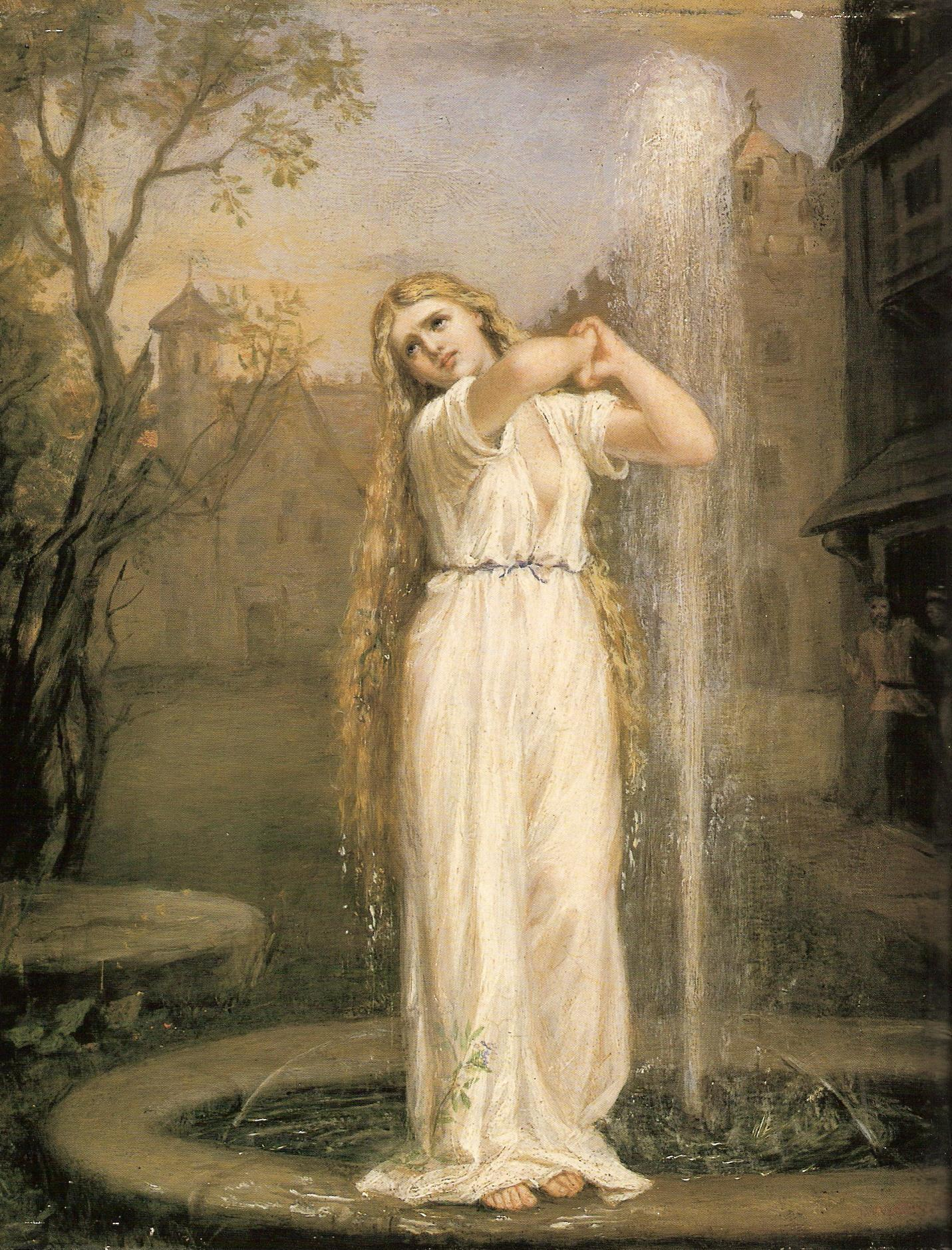 An image of the undine by John William Waterhouse.
