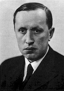 Photography of the Czech author Karel Čapek.