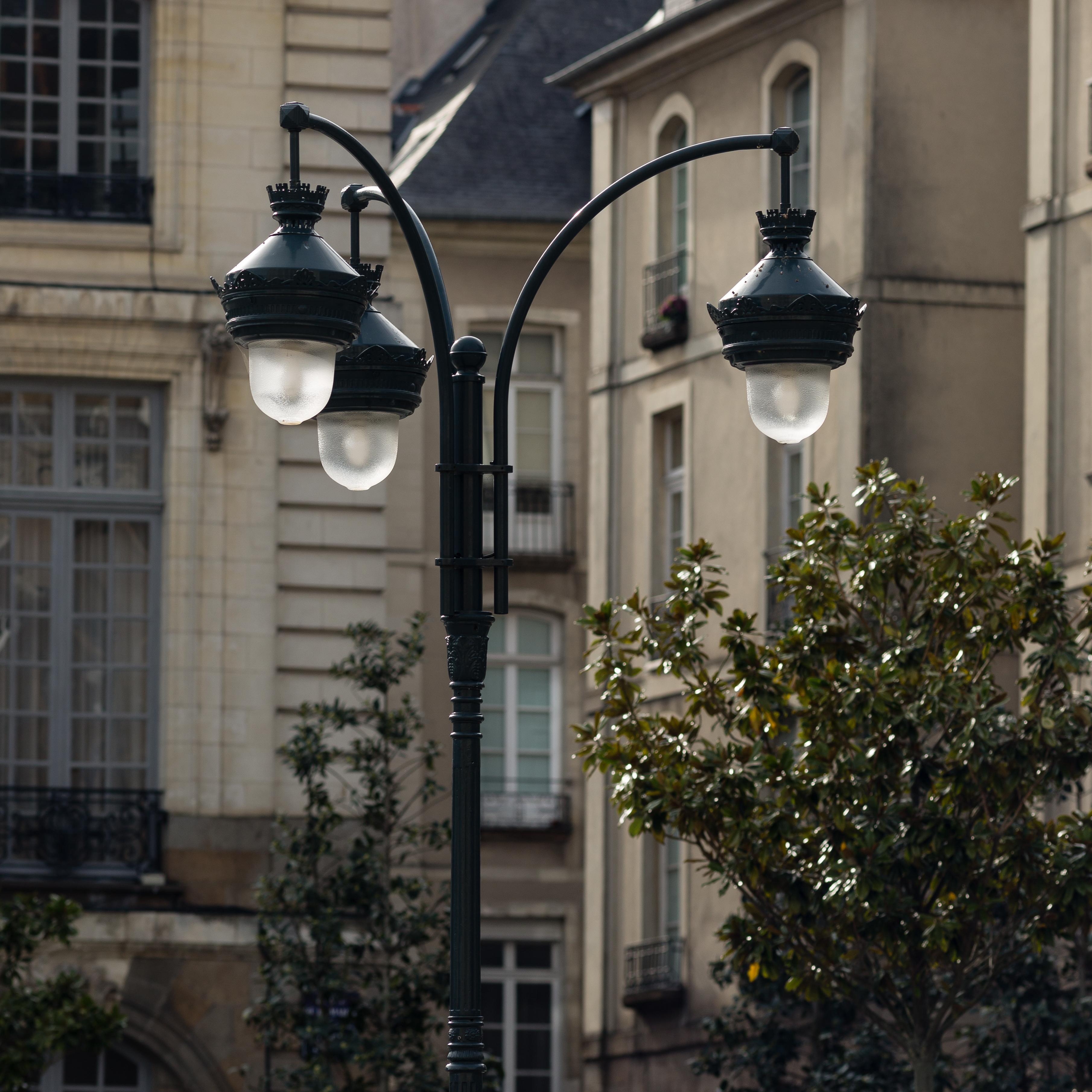 fichier lampadaire sur la place de la mairie rennes. Black Bedroom Furniture Sets. Home Design Ideas