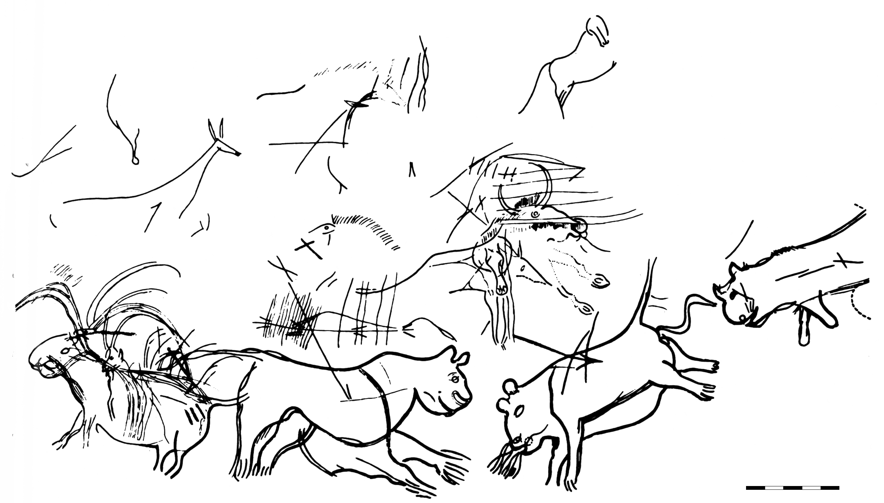 cave paintings coloring pages - photo#22