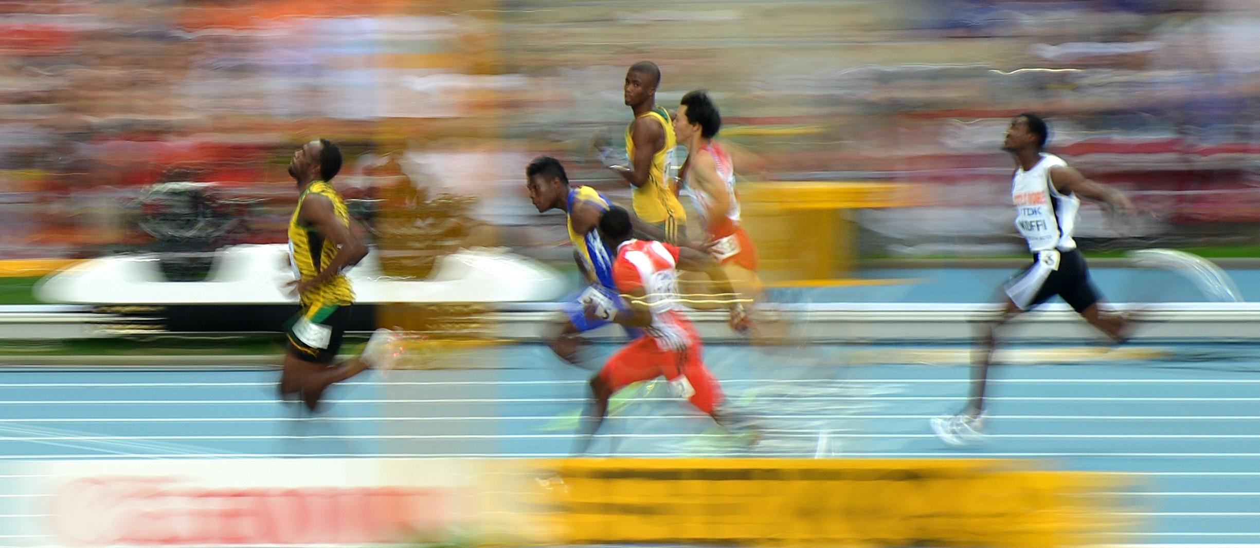 Файл:Leichtathletik WM 2013 Moskau 100 m Vorlauf.jpg