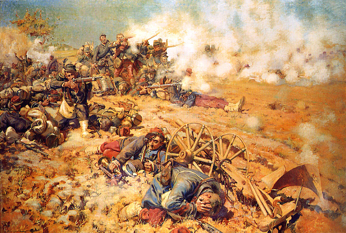 Pierre-Georges Jeanniot: La ligne de feu (1886), depicting the Battle of Mars-La-Tour