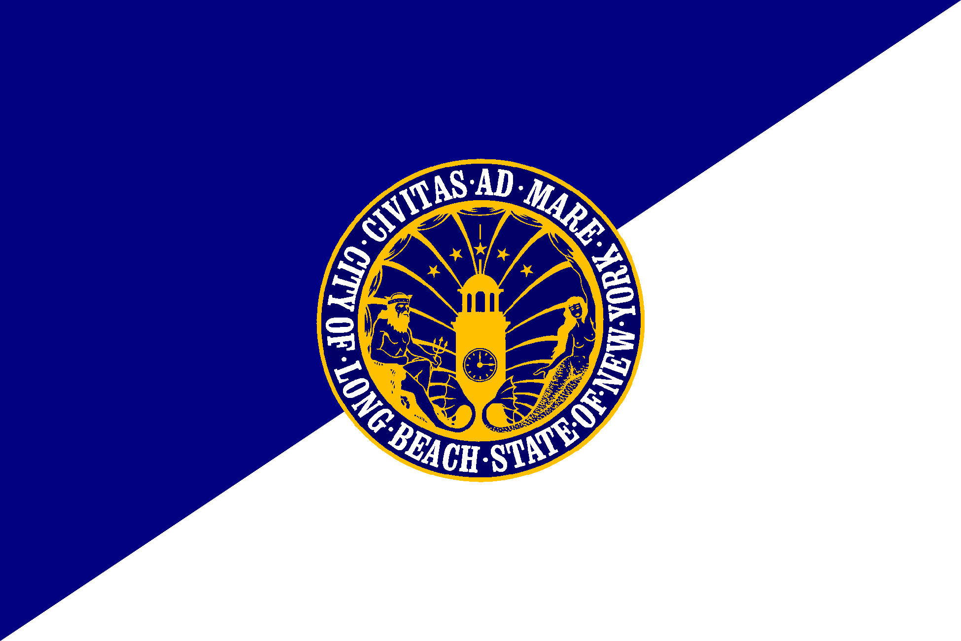 Description long beach new york flag large