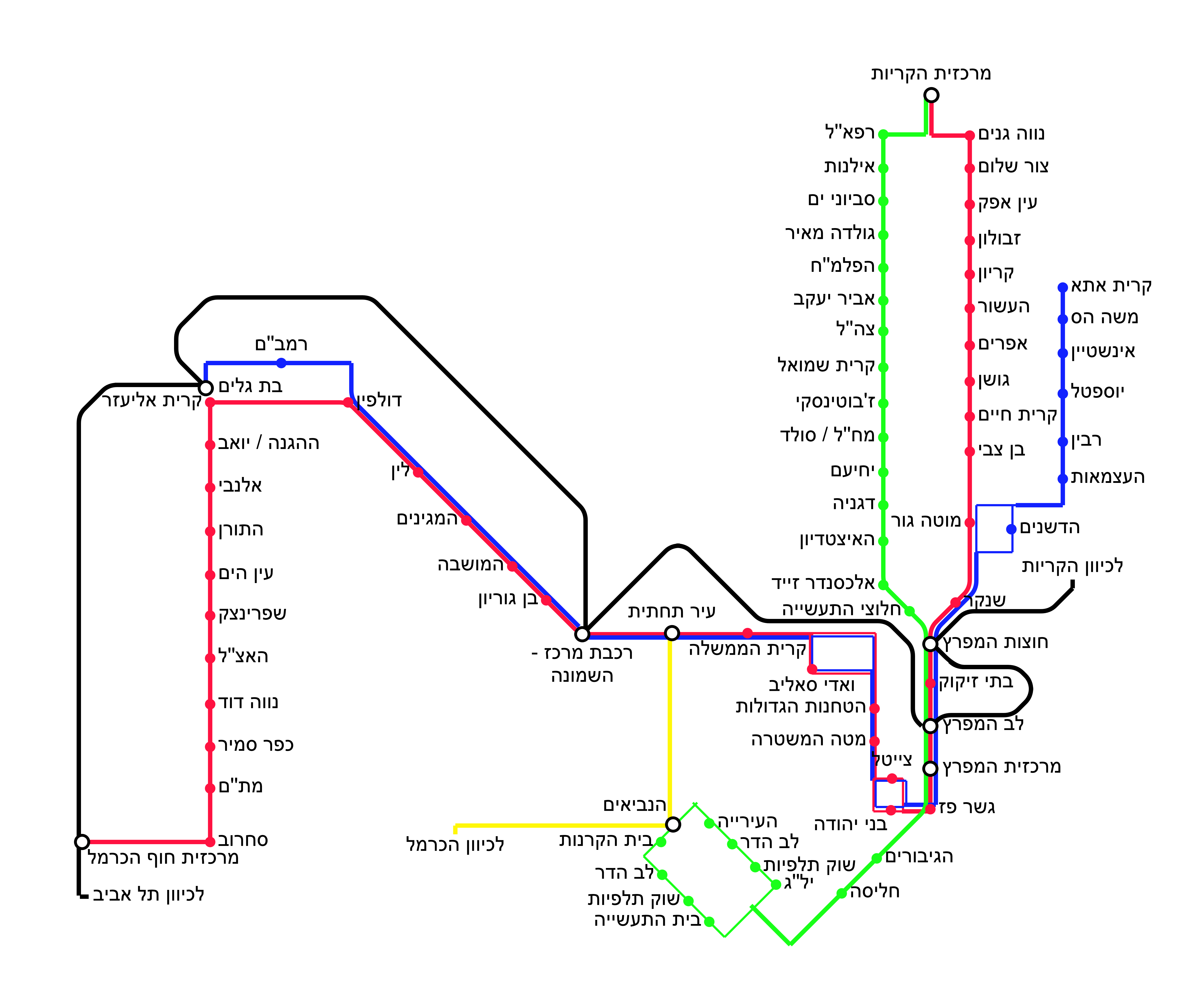 FileMap of the Metronit bus lines in Haifapng Wikimedia Commons